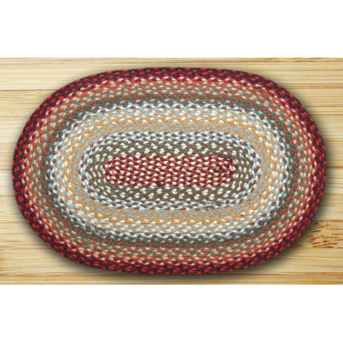 Earth Rugs Thistle Oval Braided Green Area Rug