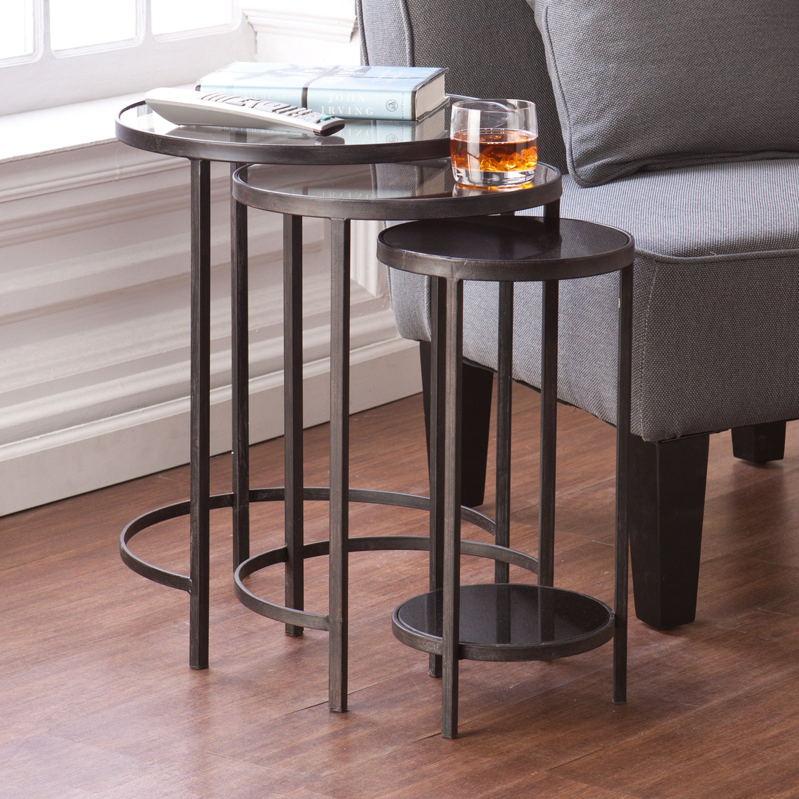 Holly & Martin Ocelle 3 Piece Nesting Tables - Black