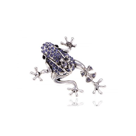 Lavender Leaping Silver Tone Purple Ribbon Bow Frog Baby Mama Adjustable Ring