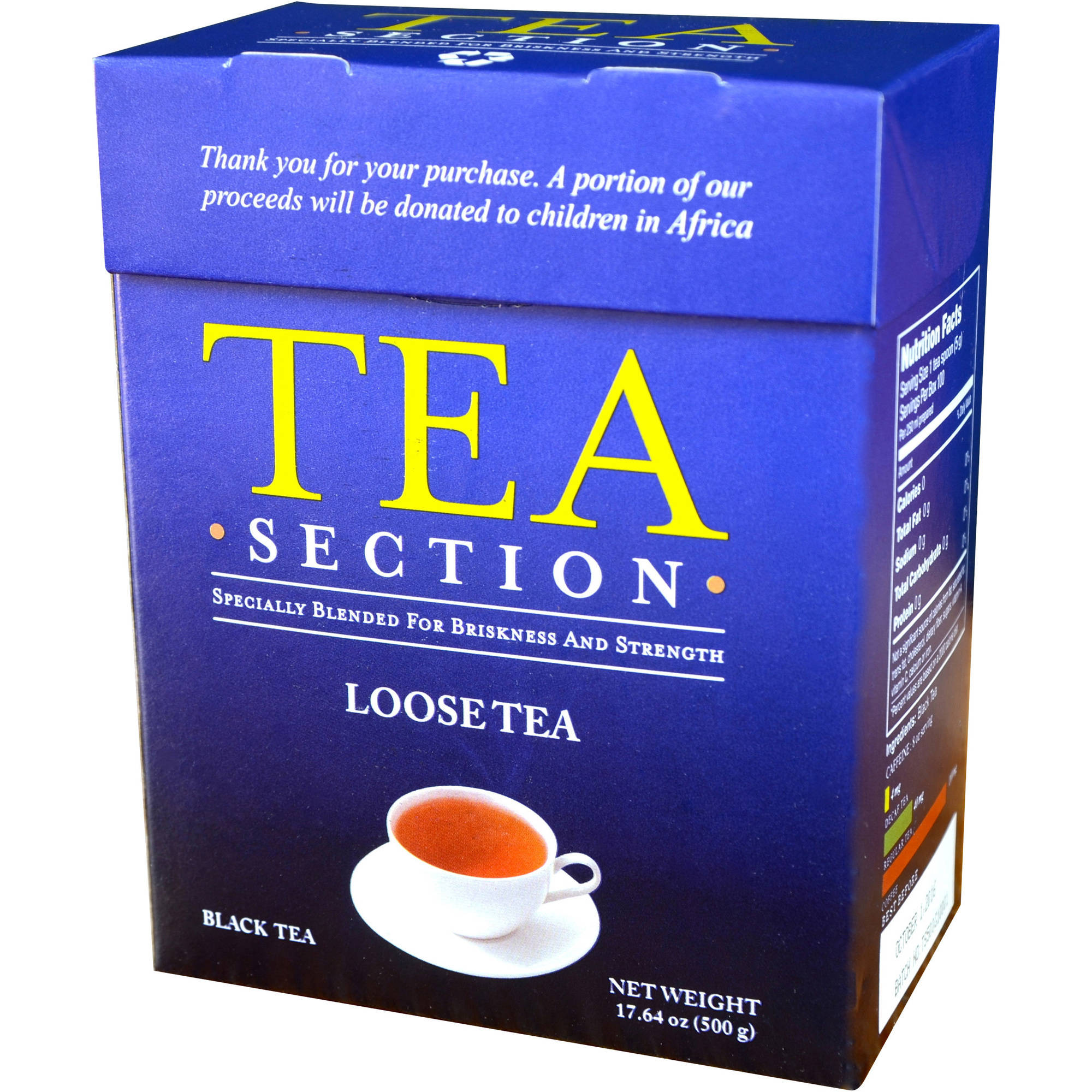 Tea Section Loose Tea Black Tea, 17.64 oz