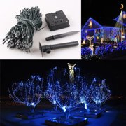 Solar powered christmas lights gzyf blue 22m waterproof 200 led solar powered string light xmas christmas wedding party string aloadofball Images