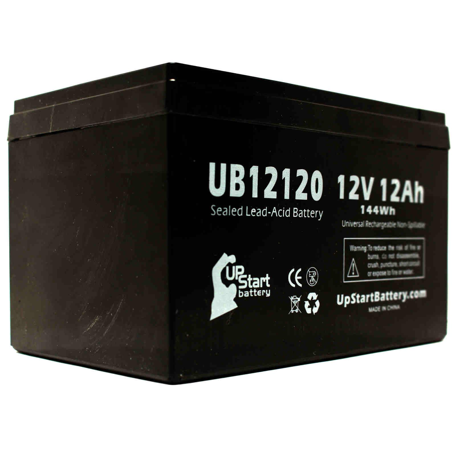 3x Pack - APC SMART-UPS SC 620VA Battery Replacement - UB12120 Universal Sealed Lead Acid Battery (12V, 12Ah, 12000mAh, F1 Terminal, AGM, SLA) - Includes 6 F1 to F2 Terminal Adapters - image 2 de 4