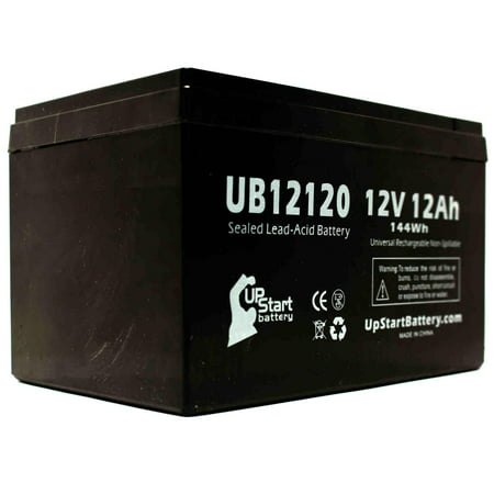 Shoprider Jimmie Battery Replacement - UB12120 Universal Sealed Lead Acid Battery (12V, 12Ah, 12000mAh, F1 Terminal, AGM, SLA) - Includes TWO F1 to F2 Terminal Adapters - image 3 de 4