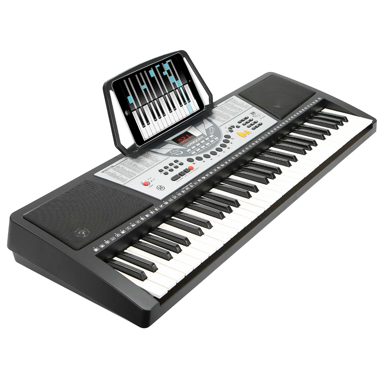 Hamzer 61 Key Electronic Music Electric Keyboard Piano - Black