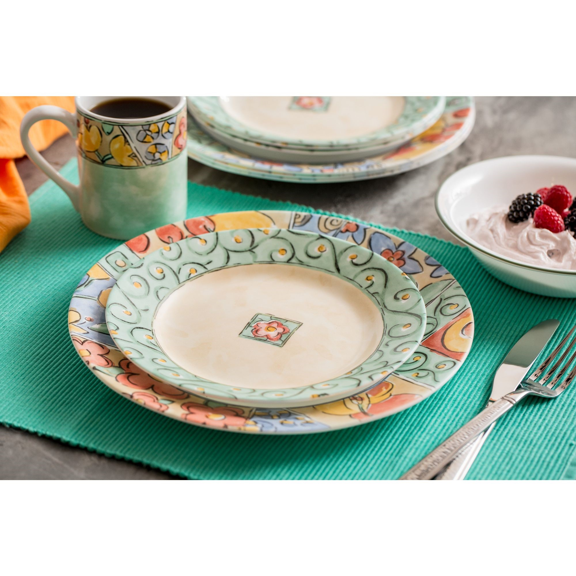 Corelle Impressions Watercolors 16-Piece Dinnerware Set