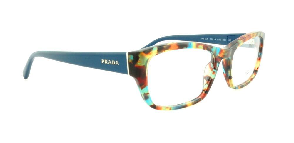 84e91329f347 PRADA Eyeglasses PR18OV NAG1O1 Havana Spotted Blue 54MM - Walmart.com