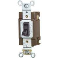 Eaton Wiring Devices WD1242-7B-BOX Toggle Switch, 120 V, Wall Mounting, Polycarbonate, Brown