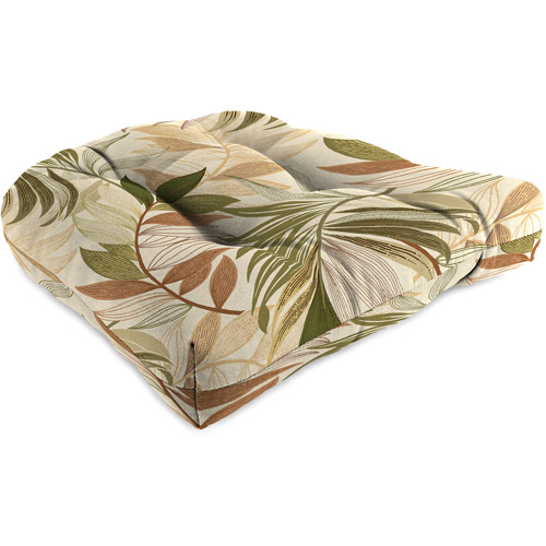 Jordan Manufacturing Outdoor Patio Wicker Chair Cushion, Oasis Nutmeg