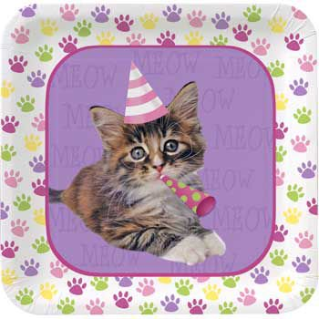 Kitty Cat Cake Plates - Party Supplies](Kitty Cat Party Supplies)