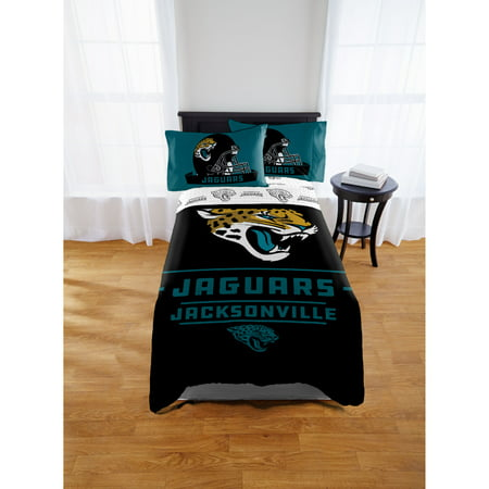 NFL Jacksonville Jaguars Twin & Full Comforter Set, 1 Each ()
