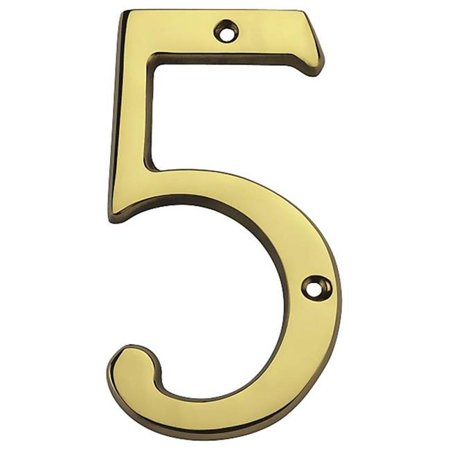8' Solid Brass House Number - 6 in. Solid Brass House Number 5