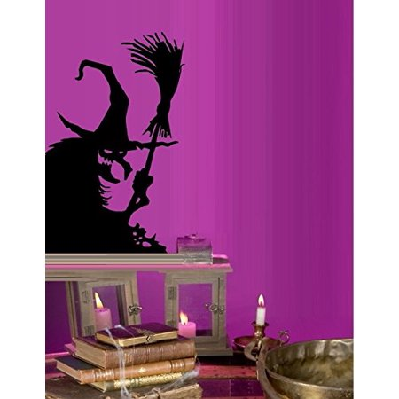 Decal ~ Wicked Witch #11 ~ HALLOWEEN: WALL OR WINDOW DECAL, 13