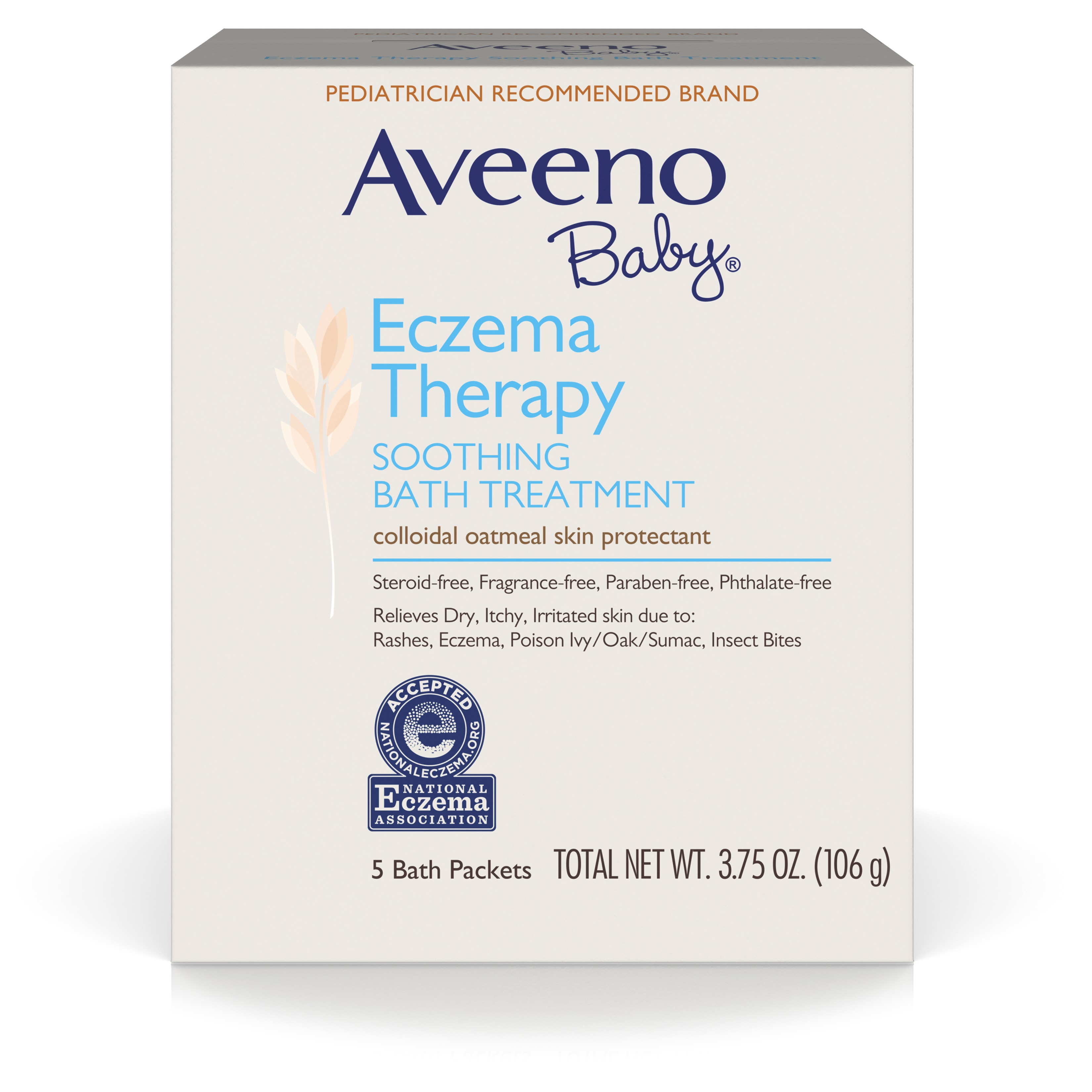 Aveeno Baby Eczema Therapy Soothing Bath Treatment For Minor Skin Irritations, 5 Count