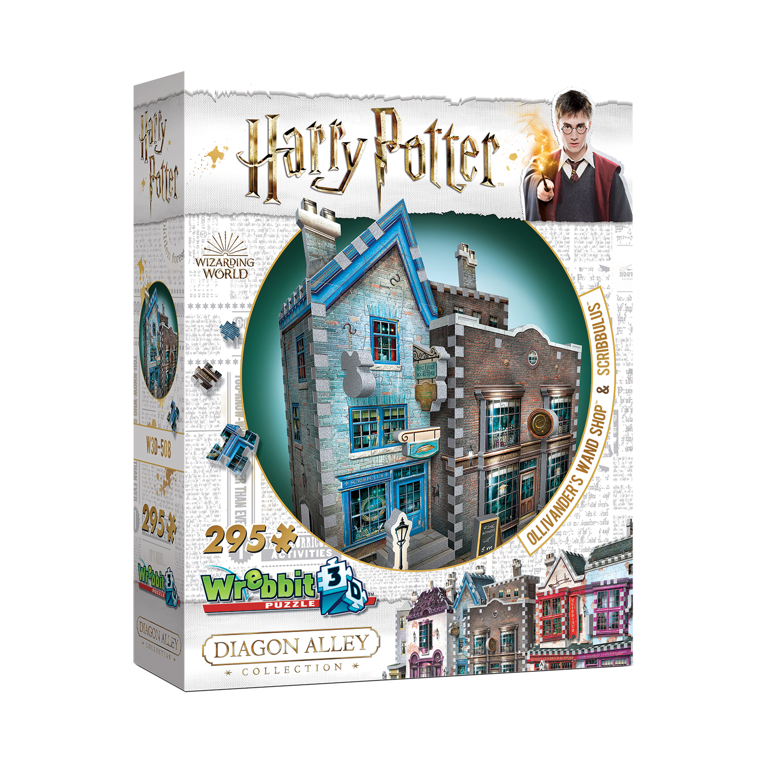 Harry Potter Daigon Alley Collection Ollivander's Wand Shop & Scribbulus 3D Puzzle: 295 Pcs by Wrebbit