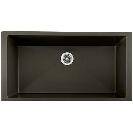 Elkay Quartz Luxe 36 L x 19 W Undermount Kitchen Sink with Perfect Dra