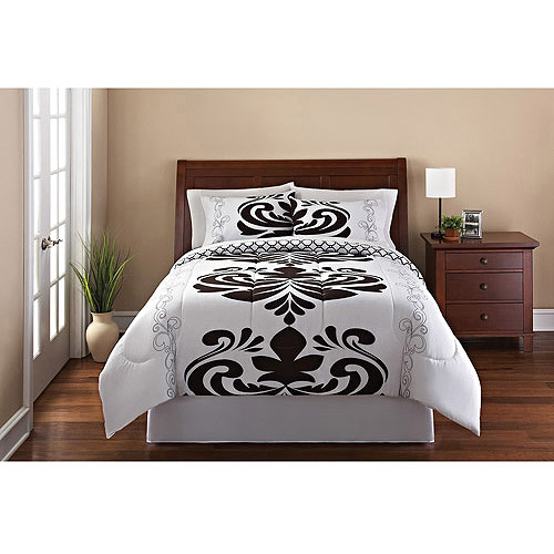Mainstays Luxemborg 3-Piece Reversible Bedding Comforter Set