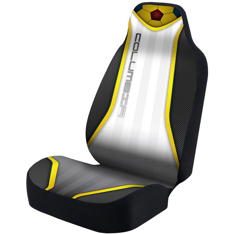 Coverking Universal Seat Cover Designer Ultra Suede, World Cup Columbia