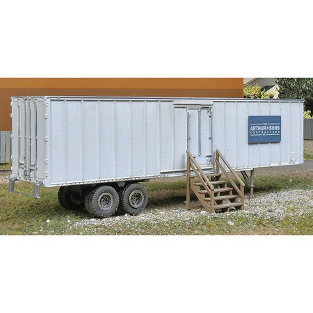 Walthers SceneMaster HO Scale Building Kit Construction Site Storage Trailer