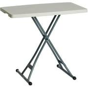 20 inch(s)  x 30 inch(s)  White Plastic Adjustable Rectangular Folding Table