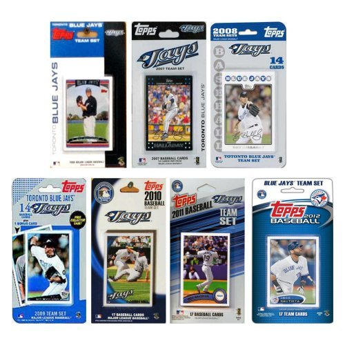 MLB Toronto Blue Jays 7 Different Licensed Trading Card Team Sets