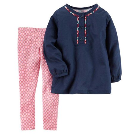Carter's Baby Girls Playwear 2PC Set Navy Floral Pink 12M Carters is the leading brand of children clothing, gifts, and accessories in America, selling more than 10 products for every child born in the U.S. Our designs are based on a heritage of quality and innovation that has earned us the trust of generations of families.