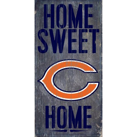 Chicago Bears 6'' x 12'' Home Sweet Home Sign - No Size