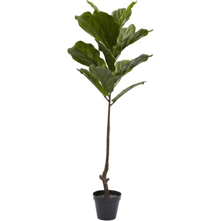 Nearly Natural 4' Fiddle Leaf Tree, UV Resistant, Indoor/Outdoor