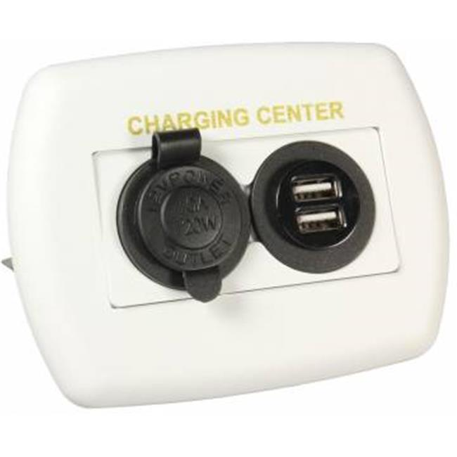 15085 Usb Charging Center White - image 1 de 1
