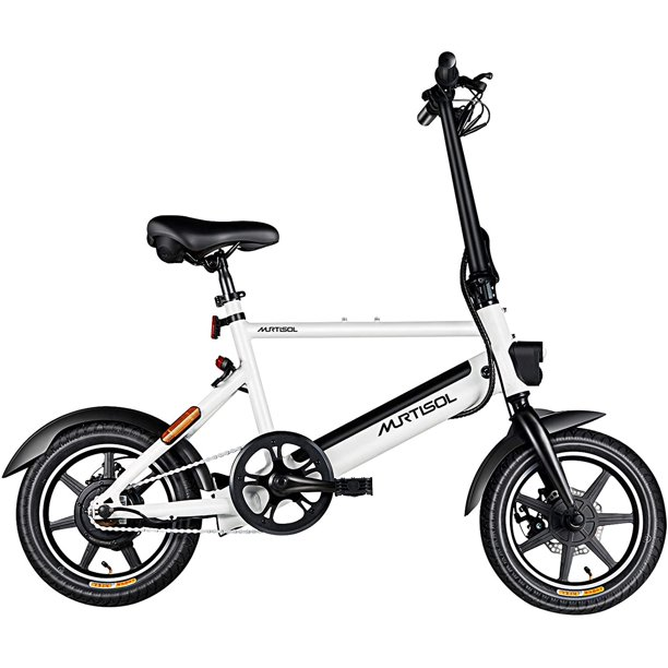 """Murtisol 14 inch Folding Bike 3 Speed Shift Foldable Handle Lightweight Electric Commuter Removable Battery Pedal Assist Power 14"""""""