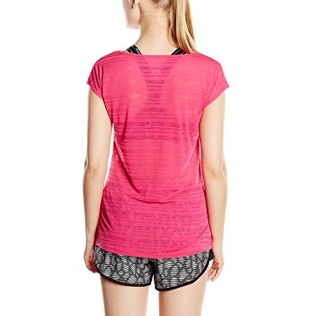 Nike Womens Marathon - Nike Womens Dri Fit Cool Breeze SS Top, Vivid Pink, Small