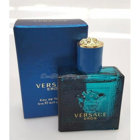 Versace Eros by versace 0.17 oz (5 ml) EDT Splash Men Mini NEW IN (New Versace For Men)
