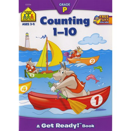 School Zone Preschool Workbooks, Counting 1-10