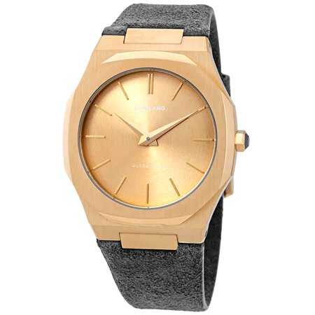 D1 Milano Ultra Thin Gold Dial Ladies Watch A-UTL05