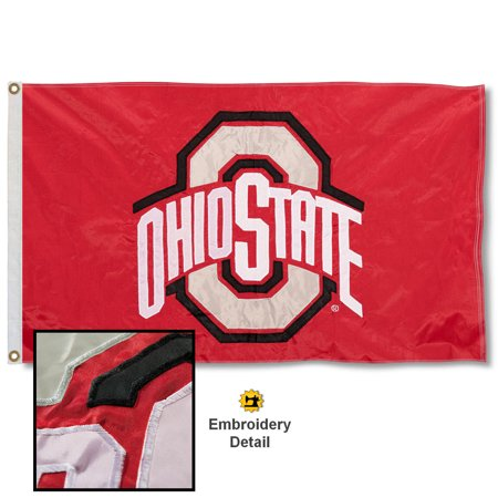Osu Columbus Ohio (OSU Buckeyes 3' x 5' Nylon Embroidered Flag )