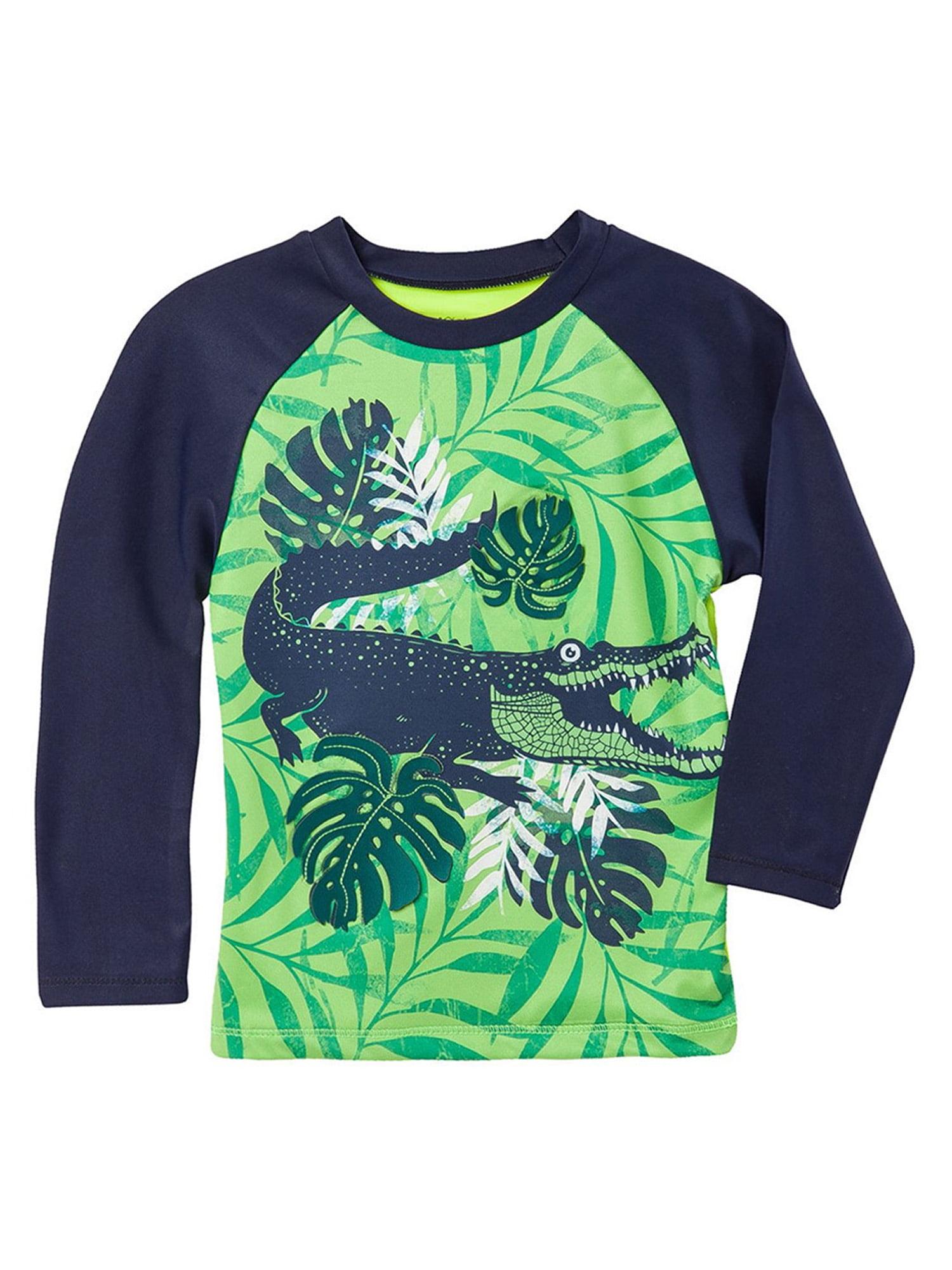 OFFCORSS Toddler Boy Long Sleeve Rashguard Swimsuit | Trajes de Baño para Niños