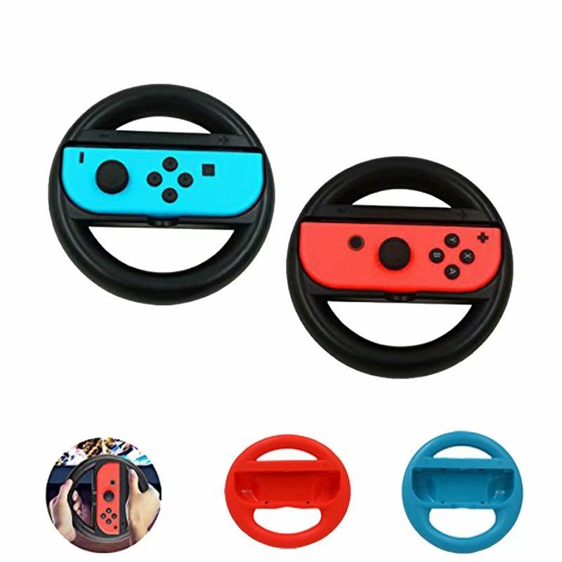 2 Pack Joy-Con Wheel for Nintendo Switch Gamepad Racing Wheel Game Accessories Joy-Con Game Controller Steering Wheel Game No include Joy-Cons (Black)