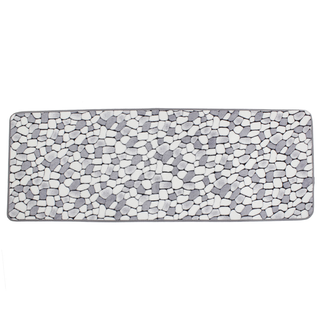Ustide 2 Piece Grey Stone Rug Bathroom Rug Set Coral Fleece Memory Foam Mat  Non Slip Floor Runner Kitchen Rug Set   Walmart.com