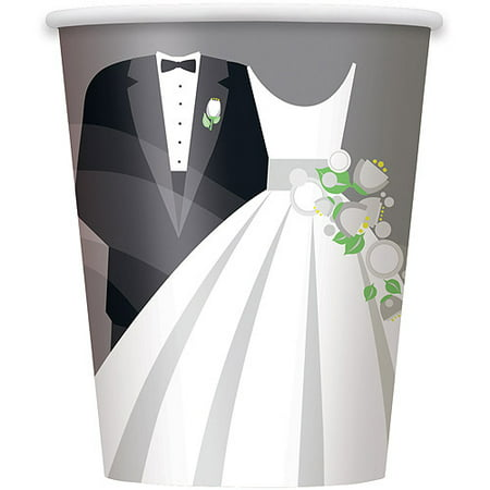 Silver Wedding Paper Cups, 9 oz, 8ct](Custom Wedding Cups)