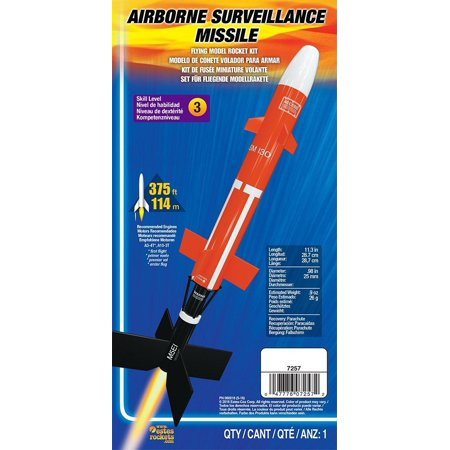 Missile Kit - Brand New  Flying Model Rocket Kit Airborne Surveillance Missile 7257, High-quality