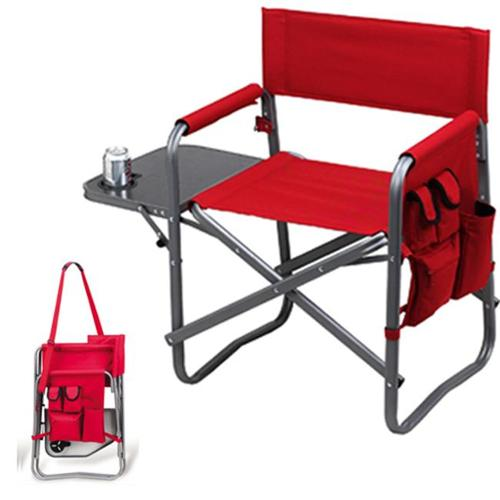 Picnic Ascot 463-R Folding Sports Chair with Table and Organizer - Red
