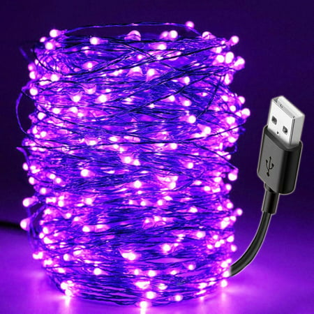 Diy For Halloween (10M 100LED UV String Light USB Christmas Halloween Party Waterproof DIY Bar Lamp for Germicidal Stage Haunted)