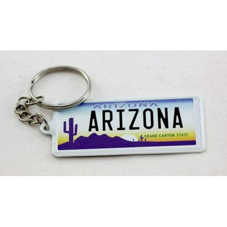 Arizona license plate aluminum ultra-slim rectangular souvenir keychain