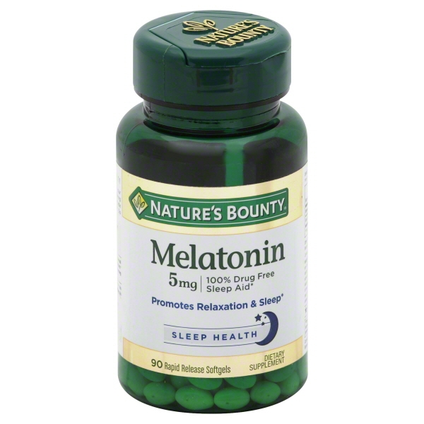 Nature's Bounty Super Strength Melatonin Dietary Supplement, 5mg, 90 Ct