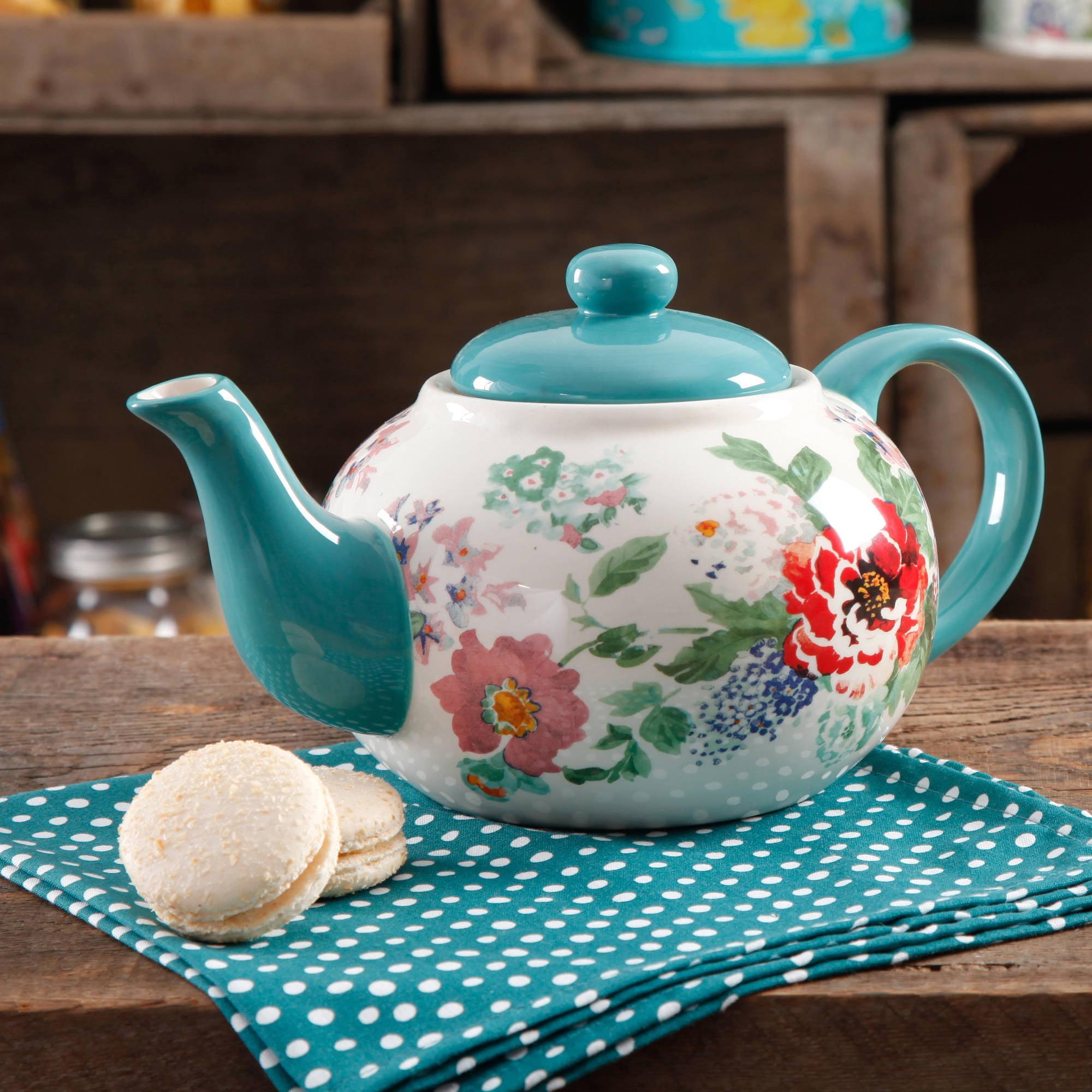 The Pioneer Woman Country Garden 23oz Tea pot Home Kitchen Decor Hot ...