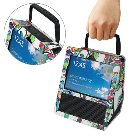 Protective Case Cover for Amazon Echo Show, EpicGadget(TM) Premium PU Leather Carrying Cover Case with Handle For Amazon Echo Show (Love (Premium Carry Case)