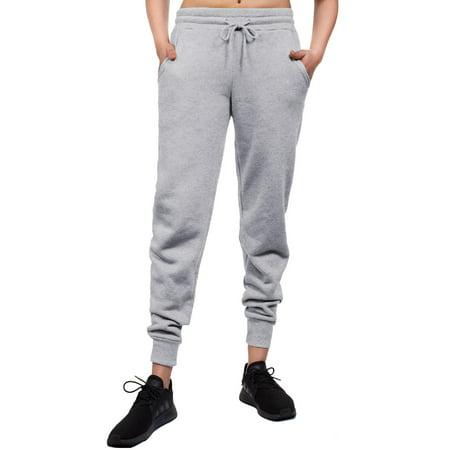 MixMatchy Women's Casual Knit Jogger Fleece Sweatpants
