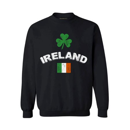 Awkward Styles St Patricks Sweater Ireland Sweatshirt Irish Flag Vintage Sweater for Men & Women Lucky Shamrock Sweatshirt Irish Clover Gifts for Irish Mens St Patricks Irish Pride Womens St Patricks