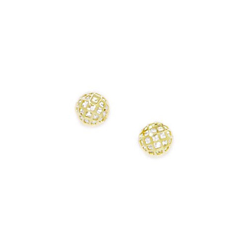 Jewelryweb Medium Crystal Ball Cubic Zirconia Stud Earrings
