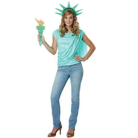 Miss Lady Liberty Adult Costume - Statue Of Liberty Costumes