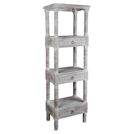 Sunset Trading Shabby Chic Cottage Distressed Wooden Bookshelf ()